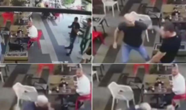 Pamje nga rrahja brutale e mafias serbe në Novi Sad
