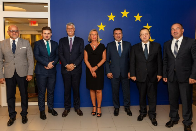 Thaçi deklarohet pas takimit me Mogherinin dhe liderët e rajonit