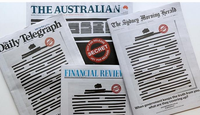 Protestë e jashtëzakonshme në Australi/ Gazetat printohen si asnjëherë më parë