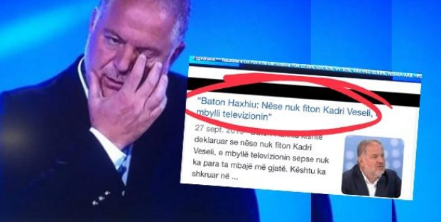 Tha se do të mbyllte televizionin nëse humb PDK-ja, Baton Haxhiu mbrëmë u pa i përlotur në emision
