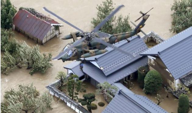 Dhjetë të vdekur nga vërshimet në Japoni