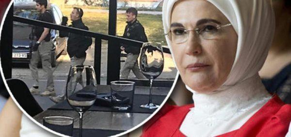 Truprojat e gruas së Erdoganit futen me armë në lokal dhe përplasen me serbët