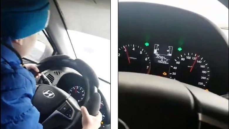 Filmoi të birin 6-vjeç duke vozitur me 130 kilometra në orë