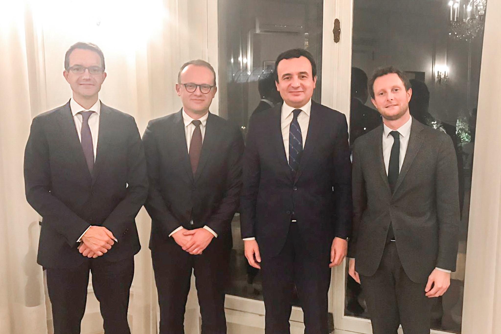 Kurti në Paris takon tre këshilltarët e Macronit