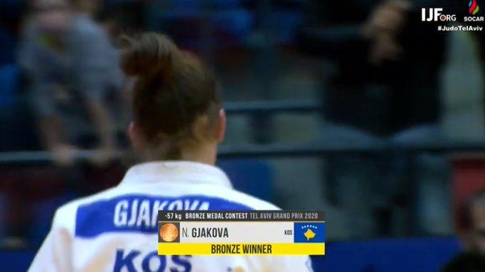 Nora Gjakova fiton medaljen e bronztë në Grand Prix Tel Aviv