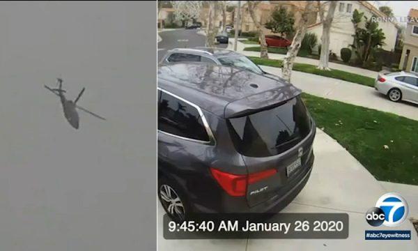 Kamerat e sigurisë së një shtëpie kapin sekondat e fundit të udhëtimit fatal të Bryant