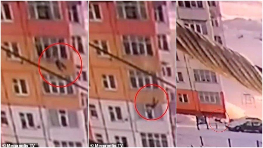Një grua në Rusi bie nga kati i 9-të dhe ngrihet prapë në këmbë