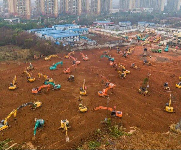 Spitali me 1000 shtretër, puna gjigante që po bëhet në Kinë për ta ngritur në pak ditë