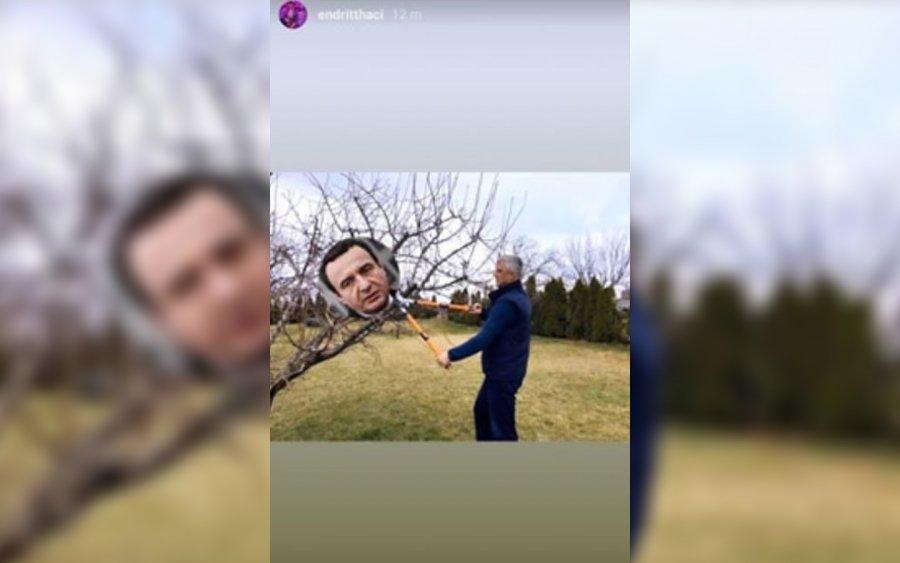 Djali i Presidentit Thaçi lë të kuptohet se Kurti u rrëzua nga babai i tij