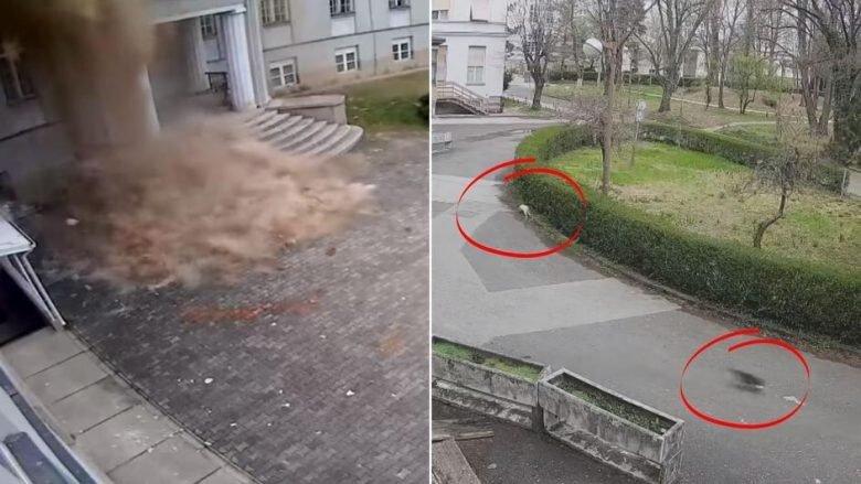 Video/ Momenti kur Fakulteti i Mjekësisë në Zagreb shembet nga tërmeti i fuqishëm