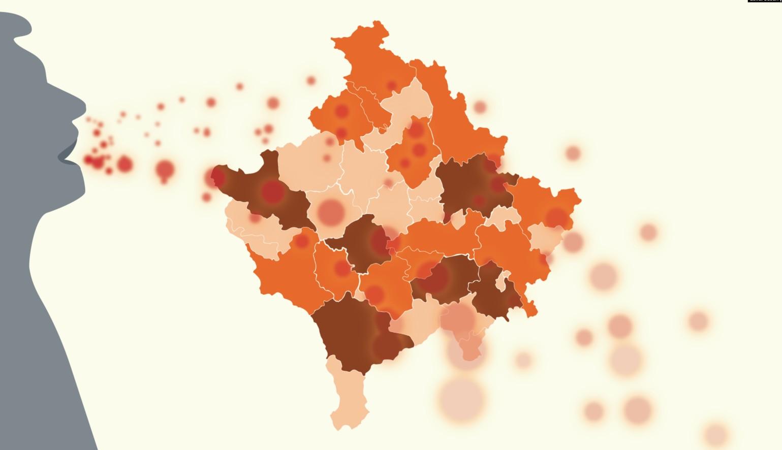 Nga këto komuna të Kosovës janë 113 rastet e reja me COVID-19