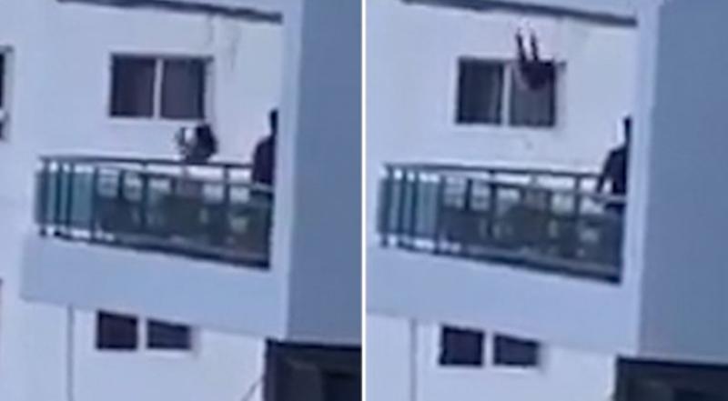 E tmerrshme: Babai luhatë vajzën e vogël në tarracën e katit të tetë