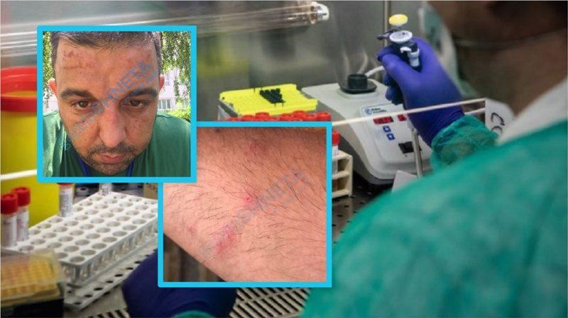Fotografi prekëse: Laboranti i IKSHPK'së trupin varrë nga mbajtja e veshjeve anti-koronavirus