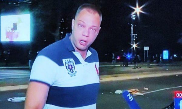 Rrënqeth protestuesi serb, rrëfen mes lotësh: Babi kjo është për ty, sepse vdiqe nga mungesa e respiratorëve!