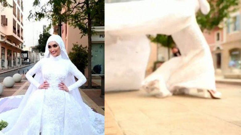 Nusja në Liban pozon për fotot e dasmës, ndërsa në ato momenti ndodh edhe shpërthimi