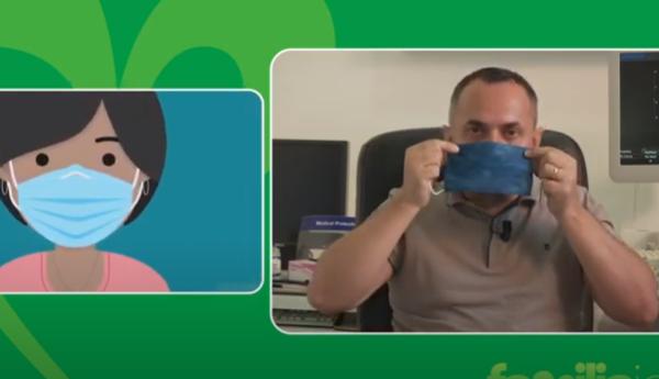 Mjeku kosovar që mposhti COVID-in, jep këshilla se si duhet vendosur maska