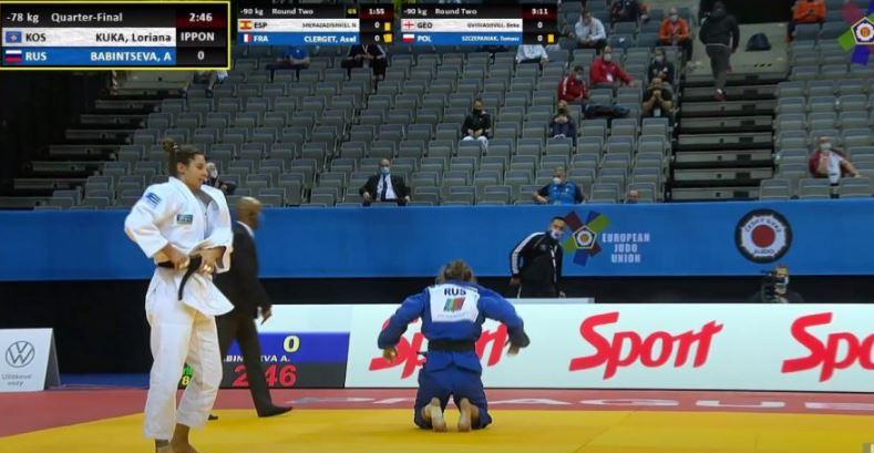 Loriana Kuka mposht rusen me Ippon dhe kalon në gjysmëfinale