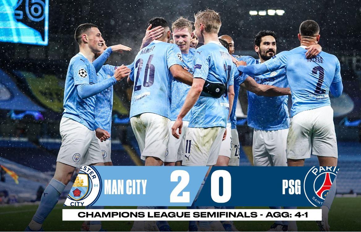 Manchester City për herë të parë në finale të Champions League