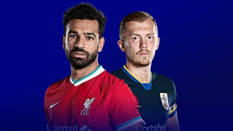 Liverpool – Southampton, formacionet zyrtare