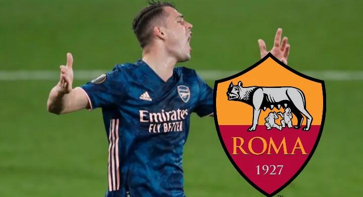 Ngecin negociata, Arsenal refuzon ofertën e Romës për Xhakën