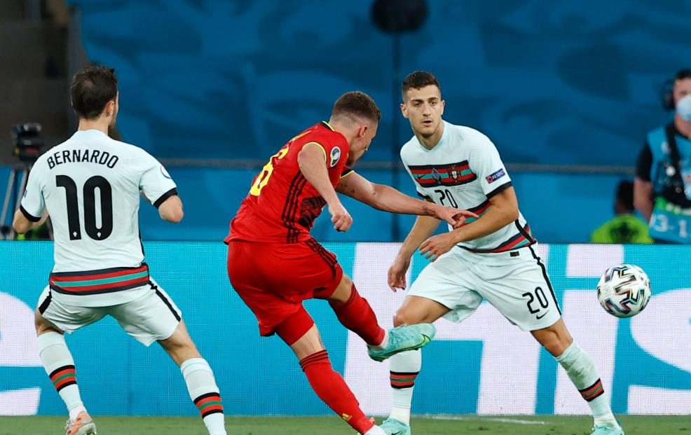 Belgjika e mbyll pjesën e parë në epërsi ndaj Portugalisë