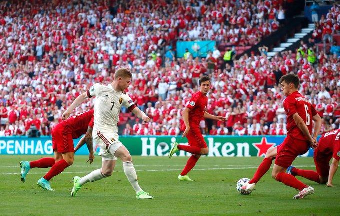 Belgjika fiton me vështirësi ndaj Danimarkës