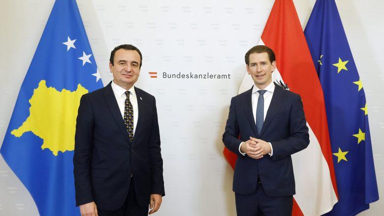 Kurz: Do ta vazhdojmë punën e mirë me Kosovën drejt integrimit evropian