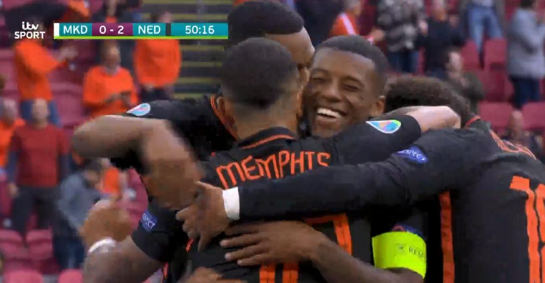 Wijnaldum shënon dy gola, Holanda po fiton 3-0 ndaj Maqedonisë së Veriut
