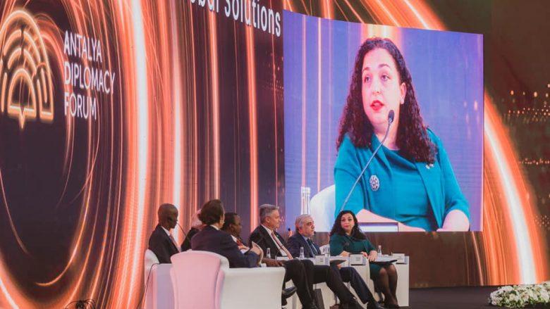 Në Antalya Diplomacy Forum, Osmani: COVID-19 ka shtuar pabarazitë