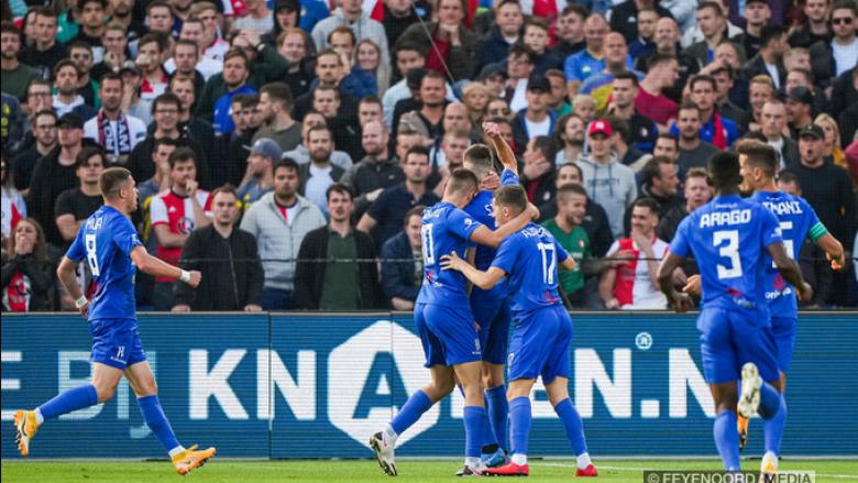 Drita dhuron emocione, i shënon dy gola brenda katër minutave Feyenoordit