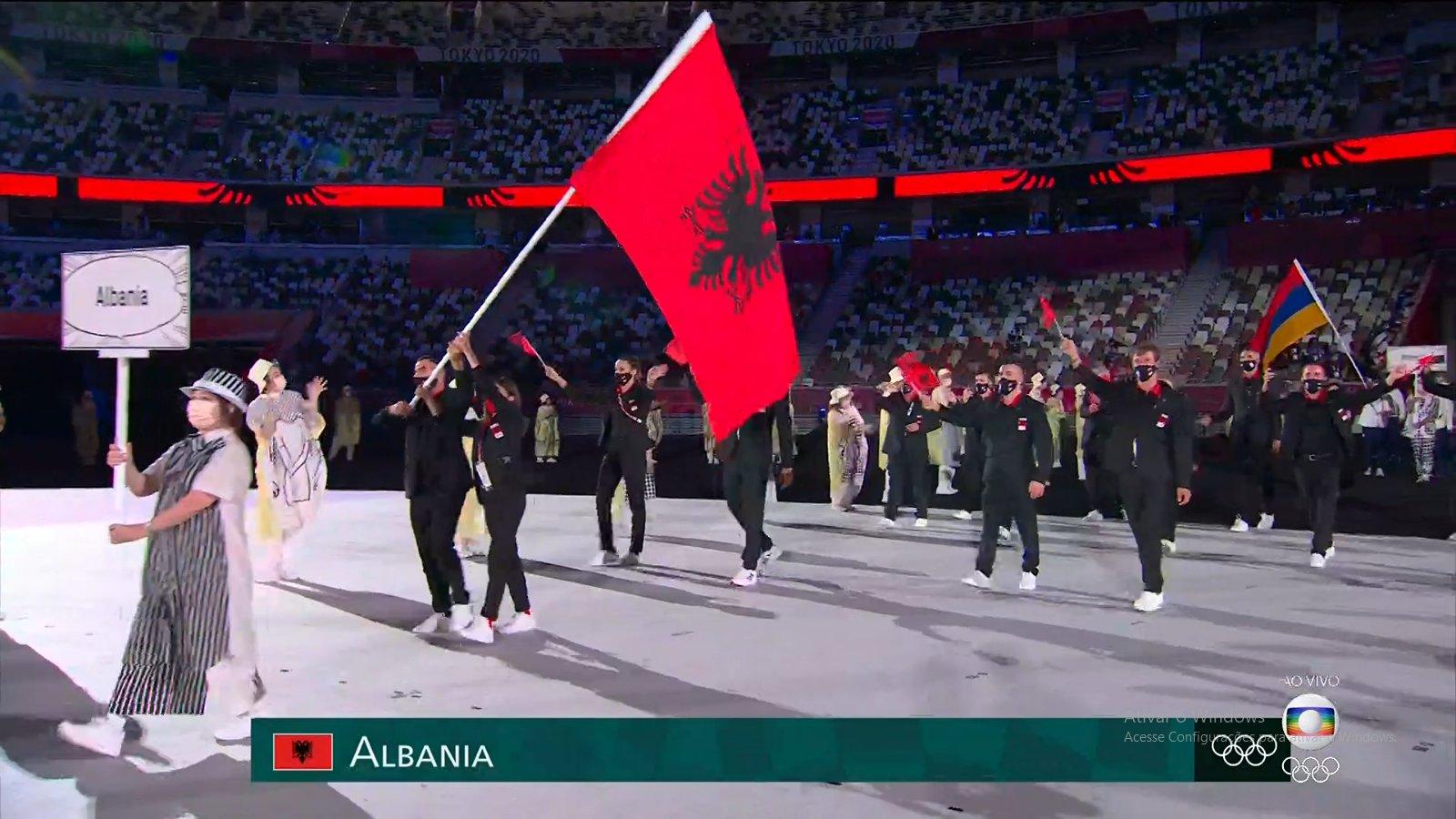 """Shqipëria parakalon në ceremoninë hapëse të Lojërave Olimpike """"Tokyo 2020"""""""