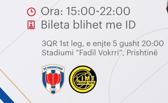 Prishtina zbulon çmimin e biletave për ndeshjen ndaj Bodo/Glimt