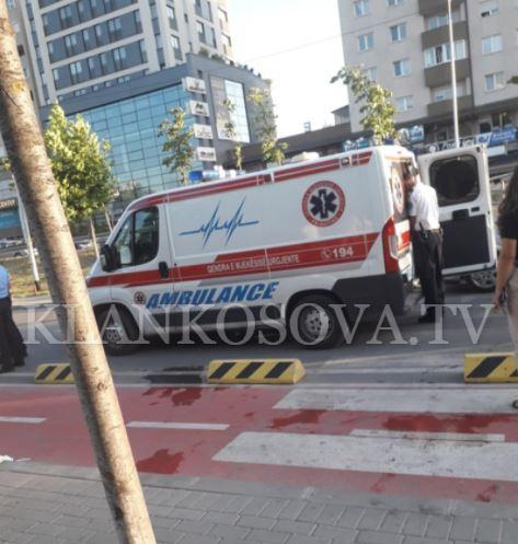 Një këmbësor goditet nga motoçikleta në Prishtinë