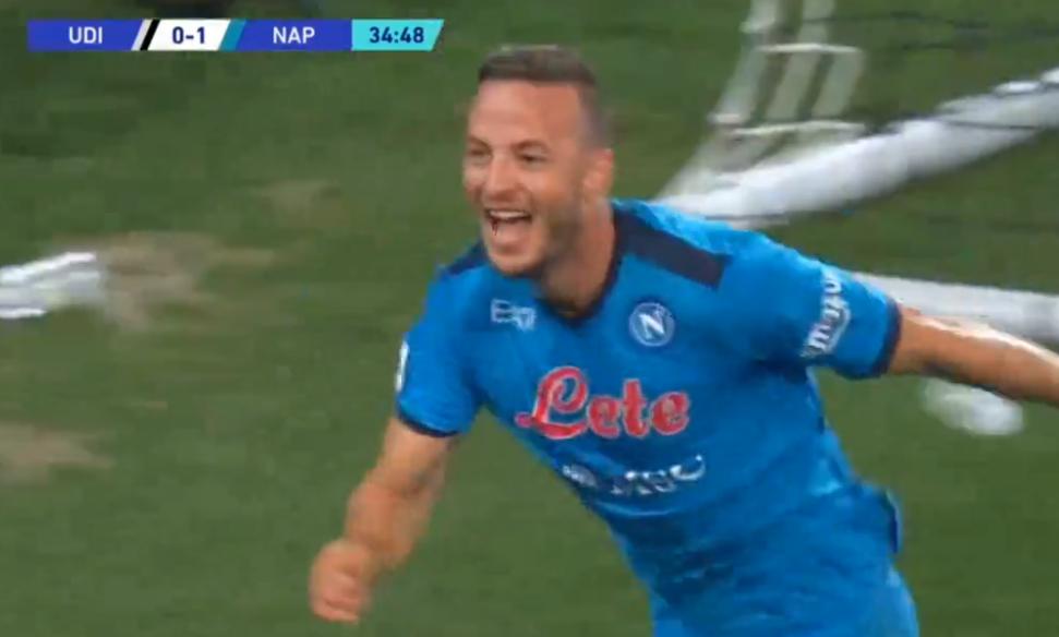 Gol i bukur nga Rrahmani, Napoli dyfishon epërsinë ndaj Udineses