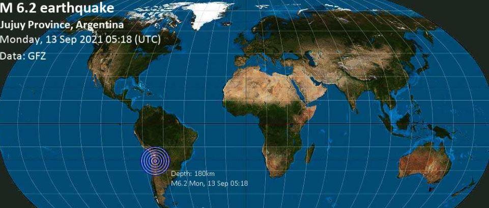 Argjentina goditet nga një tërmet prej 6.2 shkallë