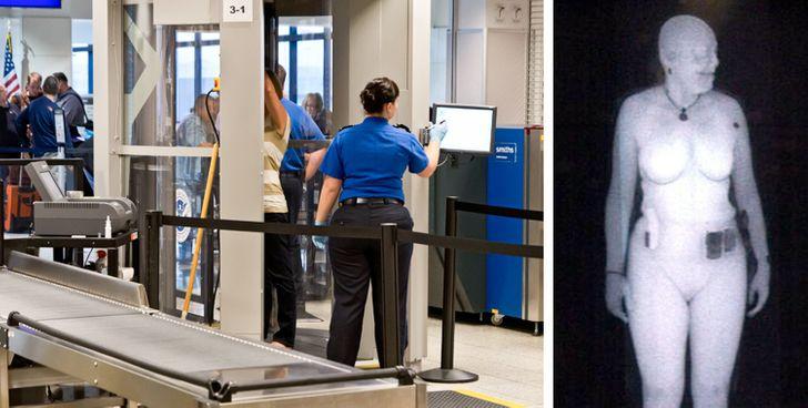 A e dini se stafi i aeroportit ju sheh të zhveshur?