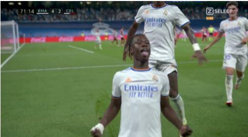 Camavinga debuton me gol për Real Madridin