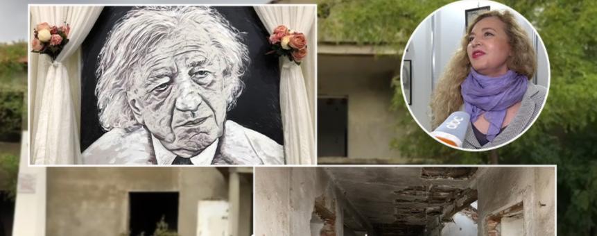 Projekti prej 3 muaj në letër, shtëpia e Dritëro Agollit po shkatërrohet